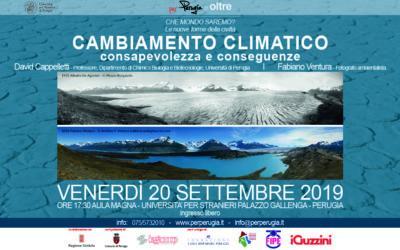 CAMBIAMENTO CLIMATICO – consapevolezza e conseguenze